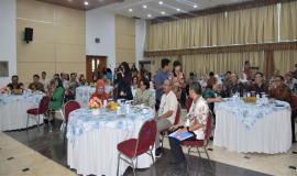 Foto Undangan yang hadir pejabat Eselon I,II,III dan IV dalam acara pelepasan Purnabakti di Kementerian Komunikasi dan Informatika  29/3  2019