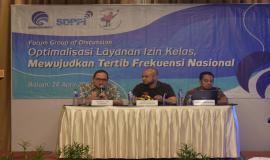 Selain Freddy H Tulung, turut menjadi narasumber Kasubdit Penataan Alokasi Spektrum Dinas Tetap dan Bergerak Darat Direktorat Penataan Sumber Daya Aryo Pamoragung, dan Bambang Supriadi dari Balai Monitor Kelas II Kota Batam.