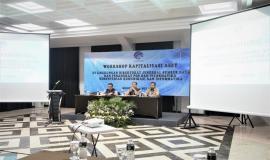 Sesditjen SDPPI (R.Susanto) membuka acara Workshop Kapitalisasi Aset didampingi Kabag Umum dan Kepegawaian (Hasym Fiater) kanan, Kasubag Rumah tangga (Among Wardoyo) kiri  3/5  2019