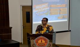 Dalam sambutan sekaligus membuka kegiatan, Wakil Rektor III Bidang Kemahasiswaan dan Alumni Unila Prof Karomani menyampaikan terimakasih atas dipilihnya kampus mereka dalam program Ditjen SDPPI.