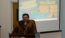 Dirjen SDPPI, Kemkominfo ( Ismail) Diharapkan, melalui kegiatan ini, mahasiswa dapat menjadi duta-duta frekuensi yang menjelaskan kepada masyarakat agar dapat menggunakan spektrum frekuensi dengan baik dan benar.