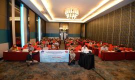 Direktur Operasi Sumber Daya Dwi Handoko beserta jajarannya foto bersama para peserta sebagai bentuk dukungan Mitra pelayanan perizinan SFR dan SOR dalam rangka pembangungan Zona Integritas (ZI) di Banten (21/5).