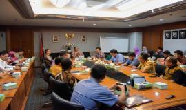 Situasi saat berlangsungnya acara serah terima jabatan struktural Ditjen SDPPI di Jakarta (25/6).