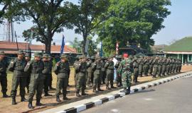 Situasi pelatihan Calon Pegawain Negeri Sipil (CPNS) pada kegiatan OJT di Cimahi, Jawa Barat. (13/8)