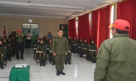 Laporan Ketua tim CPNS Ditjen SDPPI kepada Dirjen SDPPI Ismail pada kegiatan Capacity Building di Cimahi (17/8).