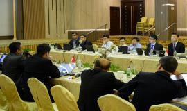 Direktur Penataan Sumber Daya Denny Setiawan memberikan opening remarks pada kegiatan Border Communication Coordination Meeting-19 di Batam (28/8).