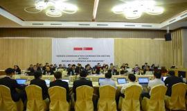 Situasi saat berlangsungnya kegiatan Bilateral Meeting- Border Communication on Coordination Meeting ke 19 (BCCM-19) antara Indonesia dan Singapura di Batam (28/8).