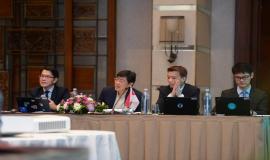 Delegasi dari Singapura yang mengikuti kegiatan 17th Trilateral Meeting Coordinaton Between Indonesia, Singapore and Malaysia di Bali, rabu (9/10).