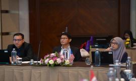 Delegasi dari Malaysia yang mengikuti kegiatan 17th Trilateral Meeting Coordinaton Between Indonesia, Singapore and Malaysia di Bali, rabu (9/10).