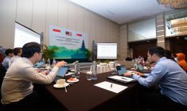 Situasi saat berlangsungnya kegiatan 17th Trilateral Meeting Coordinaton Between Indonesia, Singapore and Malaysia di Bali, rabu (9/10).