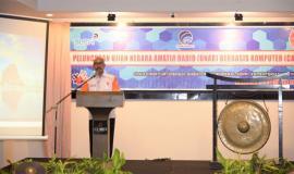 """Kepala Bidang ORARI Sulawesi Selatan Mansyur Harun, menyambut baik dan mendukung transformasi digital. """"Edukasi penggunaan frekuensi memberikan kemudahan kepada Masyarakat pengguna. Kami berharap ke depan proses dan pelaksanaa UNAR semakin mudah dan praktis"""