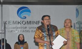 Dirjen SDPPI Ismail memberikan amanat sekaligus membuka acara Pekan Tertib Frekuensi Nasional 2019 (26/10).