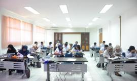 Suasana Ujian pada kegiatan Pelatihan Pembentukan Pengendali Frekuensi Radio (21/11).