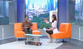 Direktur Jenderal Sumber Daya dan Perangkat Pos dan Informartika (Dirjen SDPPI) Ismail Kegiatan Talkshow di Kompas TV dalam Acara
