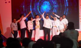 Menkominfo membuka kegiatan KOMEXPO 2019 secara resmi bersama para jajarannya dan perwakilan peserta di Jakarta (26/8).