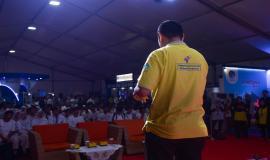 Kepala Seksi Pelayanan Dinas Tetap Direktorat Operasi Sumber Daya, Bangsawan memberikan paparan saat sesi seminar pada kegiatan KOMEXPO 2019 di Jakarta (26/8).