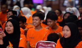 Situasi peserta saat sesi seminar oleh pembicara dari Ditjen SDPPI pada kegiatan KOMEXPO 2019 di Jakarta (26/8).