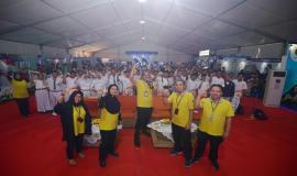 Foto bersama para pembicara dari unit kerja Ditjen SDPPI pada sesi seminar dengan para peserta dalam kegiatan KOMEXPO 2019 di Jakarta (26/8).