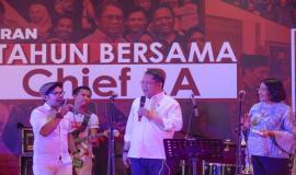 Acara Syukuran 5 Tahun bersama Chief RA dengan seluruh civitas Kemkominfo di Lapangan Anantakupa, Jakarta (22/10).