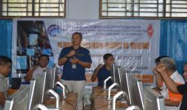 2.Kepala Balmon Spekfrekrad Kelas II Manado saat membuka kegiatan UNAR regular 2 di  Kabupaten Sangihe, Sabtu (8/2/2020)