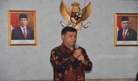 Moch Rus'an menyampaikan kesan dan pesan selama menjabat sebagai Kepala Balai Besar Pengujian Perangkat Telekomunikasi 10/2/2020