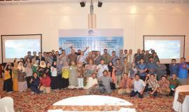 Sesditjen SDPPI R Susanto bersama dengan peserta Workshop Aplikasi Sistem Informasi Manajemen dan Akuntansi Barang Milik Negara (SIMAK BMN) dan Persediaan melakukan foto bersama seusai acara (13/3).