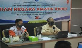 Kepala Loka Pangkalpinang Boby Satriyo memberi sambutan sekaligus membuka Ujian Negara Amatir Radio (UNAR), di Kantor Loka Pangkalpinang (13/6).